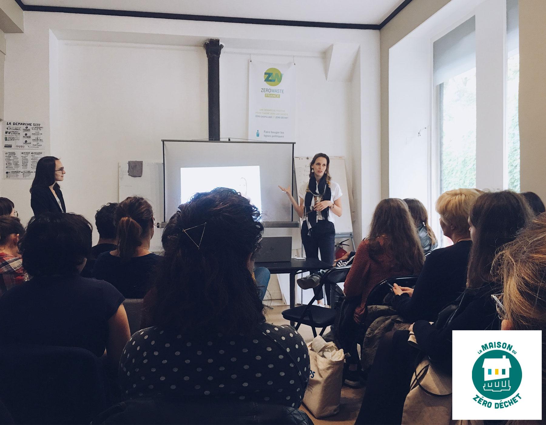 Talk about Zero Waste and sustainability at Maison du Zero Dechet - France - June 2019